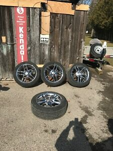 "Full set of Ford Chrome Wheels, monitors and 245/50x20"" Tires"