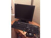 PC monitor, keyboard & mouse