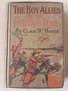Antique Hard Cover Book - The Boy Allies On the Firing Line