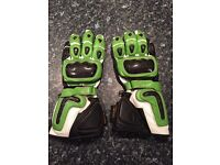 Leather Motorcycle Gloves size 10/L