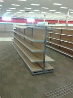 Over 50' of high quality center isle store shelving
