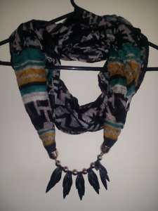 SCARVES WITH NECKLACE for just 10$ each