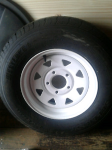 175 /80/r 13 Trailer tire and rim  Offers