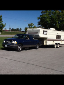 23.5 Foot 5th Wheel and Truck For Sale