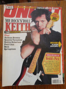 Uncut UK rock music magazine featuring Keith Richards