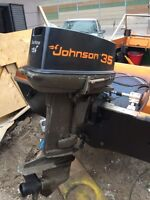 35hp Johnson outboard.