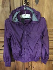 Girls purple fall lined jacket -- size Lg