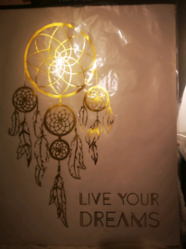 Large live your dreams gold wall vinyl