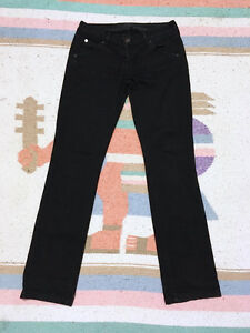 "HUDSON High Rise ""CARLY"" STRAIGHT LEG JEANS Black Ice, Size 26 London Ontario image 4"