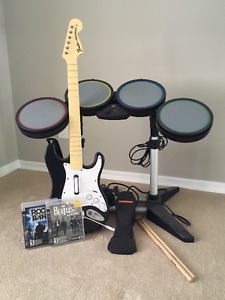 PS3 Rock Band set including two games