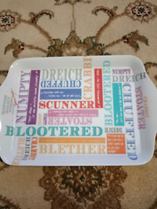 Small serving tray with Scottish slang | Dinnerware | Gumtree Australia