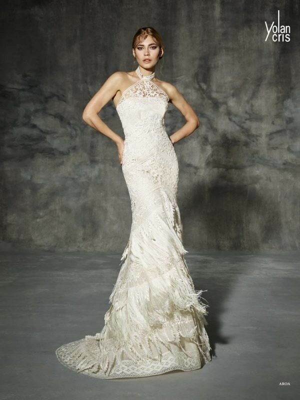 Yolancris 2016 Aroa Wedding Dress Size 10 Used Once In Hackney