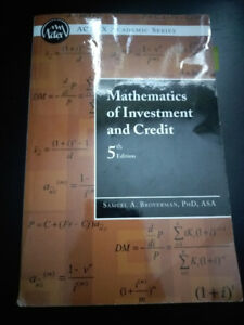 Mathematics of Investment and credit - Samuel A. Broverman