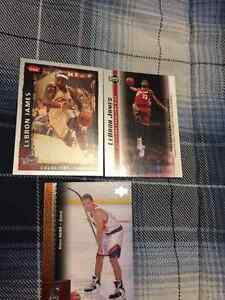 3 Basketball Rookie Cards - 1 Steve Nash, 2 Lebron James
