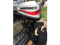 Mariner 8hp short shaft 2 stroke tiller outboard boat engine LOW HOURS!