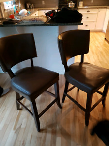 Two Kitchen chairs newly upholstered