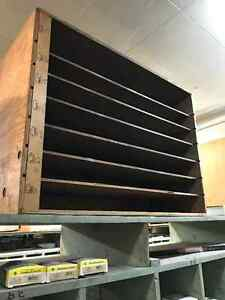 Shelving for parts/gaskets