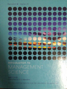 Introduction to Management science (2nd edit) by B.Taylor