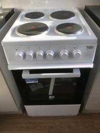 New beko 50cm white electric cooker price New £189