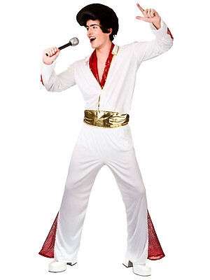 Adult King Of Rock N Roll Presley Pop 1950s New Fancy Dress Costume Male 50s - 1950s Male Costume
