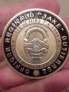 RARE 50mm TACOMA POLICE END OF WATCH COIN.