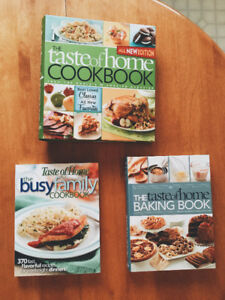 3 Taste of Home Cookbooks