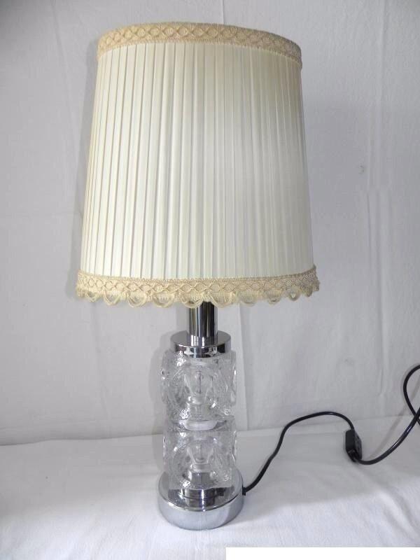 Tischlampe kristallglas chrom 70er jahre tisch lampen for Lampen chrom