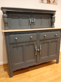 Ercol sideboard dresser upcycled with Frenchic paint