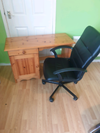 Chairs and desk for sale