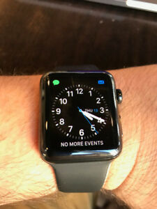 Apple Watch Series 2, stainless steel case in black