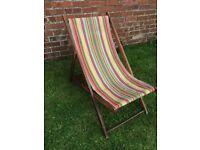 Vintage Wooden Deck Chair