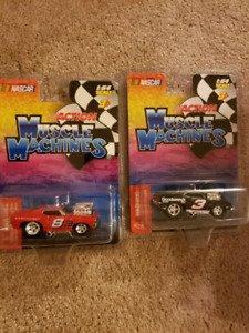 Dale Earnhardt / Dale Jr. Muscle Machines Set.