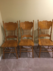 Oak Dining Chairs (4)