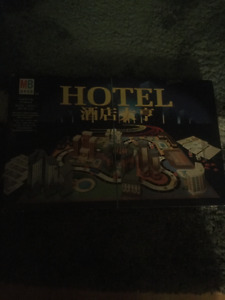 Hotels Board Game English Chinese Edition Complete Milton