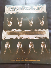 Mad World Tears for Fears Piano Sheet Music from Donnie Darko