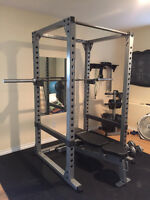 Power Rack with Bench and Weights