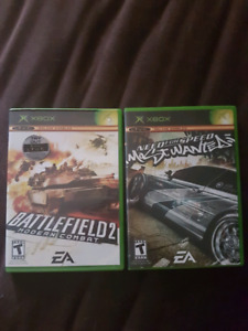 Need for speed most wanted & battlefield 2 for xbox