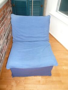 comfortable blue chair for sale