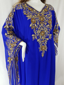 BLUE DUBAI  KAFTAN,ABAYA,WEDDING DRESS,MOROCCAN CAFTAN,ISLAMIC