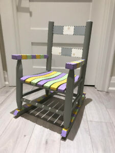 Solid Wood Rocking Chair for Children