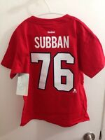 Brand New Subban Canadiens Kids T-Shirt - Official Reebok