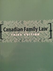 Canadian family law textbook