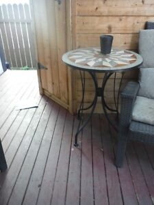 round table perfect for patio