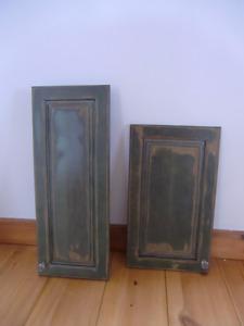 Portes d'armoire de cuisine en merisier