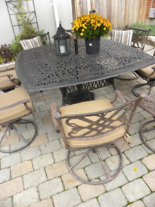 11 PC DOT Cast Aluminum  Patio Set