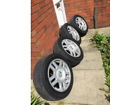 Vw golf GTI Alloy wheels 5x100 pcd. All good tyres