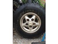 Landrover wheel + tyres