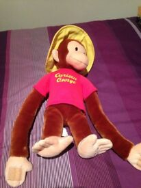 Curious George large soft toy