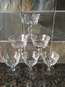 Set of 6 Edinburgh ED19 Cut Crystal Champagne Glasses