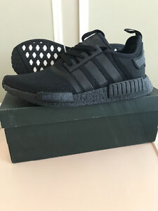 New men's adidas nmd, black, size 10